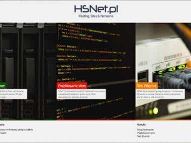 HSNet.pl - Website for Hosting Services