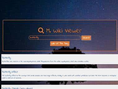 M. Wiki Viewer