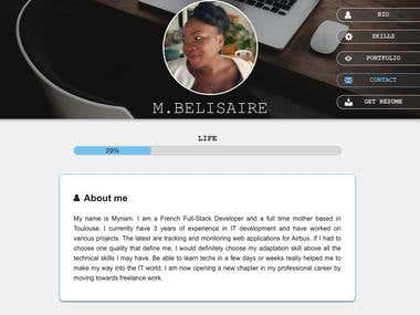 My responsive personal website
