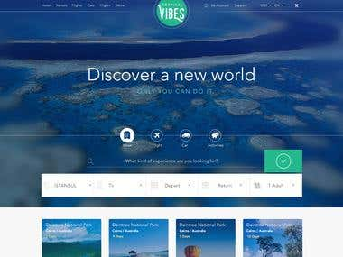 Australia Cairns Travel UI UX Design