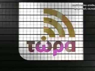 Talking on Greek TV live