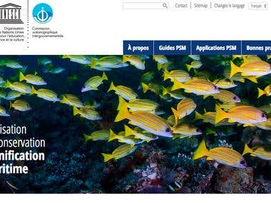 Translation of a full UNESCO website from English to French