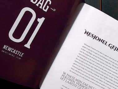 Whisky book design