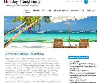 Website translation - from English to Italian