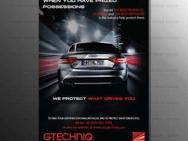 Dark and edgy Automotive advertisement