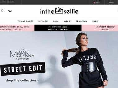 Newintheselfie E-commerce store