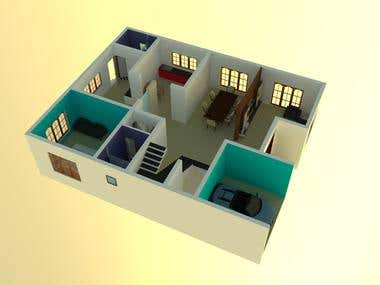 Rendering of a bungalow