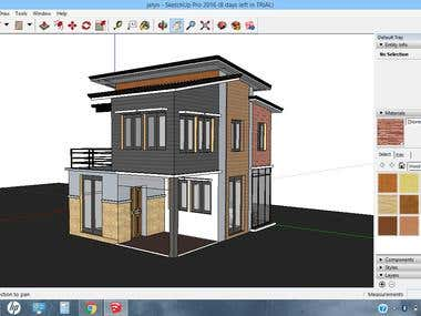 3d house in google sketchup