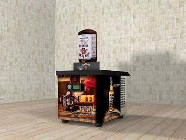 Design Soft drink machine and whiskey
