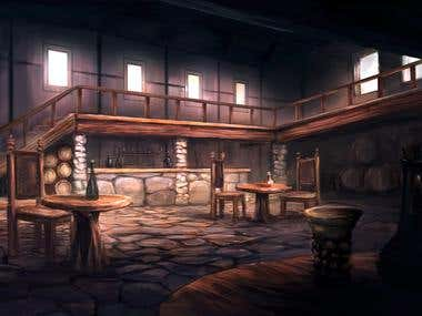 Gaming Visual development - backgrounds