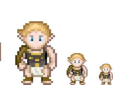 Pixel art Hero