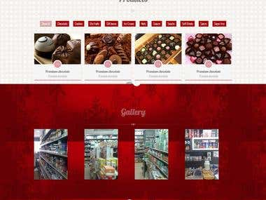 Word Press site for Nuts Selling Shop