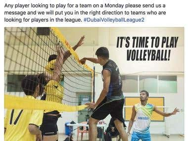 Facebook Marketing - Volleyball League