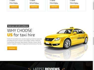 Online Taxi Booking Website
