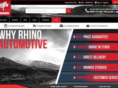 Rhino Automobiles E-commerce store