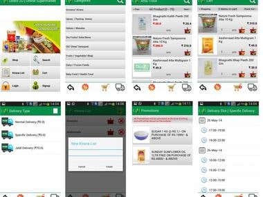 Online grocery store app