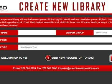 Library EXTENSION Application
