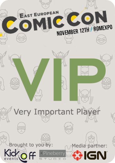 East European Comic Con Badge