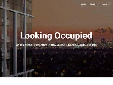 Looking occupied | wordpress website