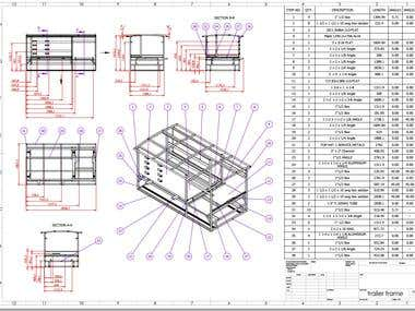 Drawing for structural aluminium profile