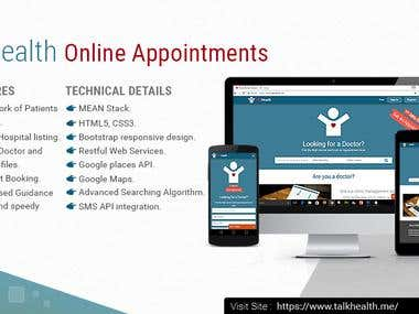 Doctor Listing and Online Appointment Scheduling website