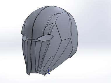 Helmet Model for 3D printing