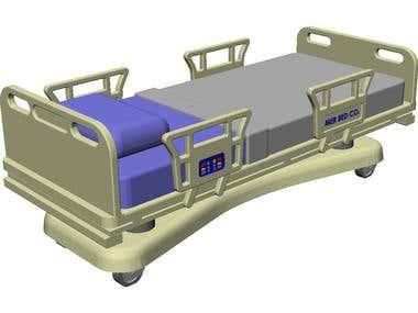 Hospital Hydraulic Bed