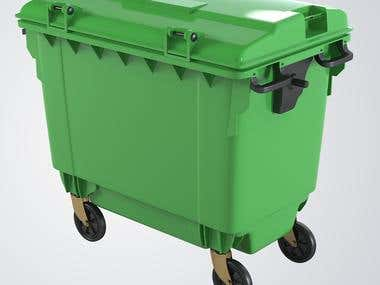 Dustbin Mould Component used In Big Canteen And Others Area