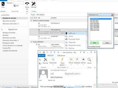 Outlook Addin VOIP phone dialer