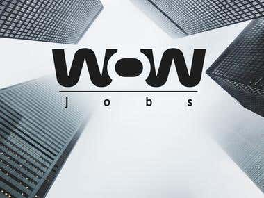 WOW JOBS logo design