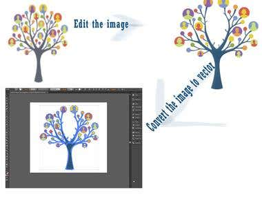Edit and convert photo to Vector