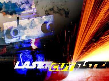 LASER CUT SYSTEMS logo design