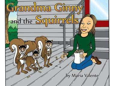 Book Illustration - Grandma Ginny and the Squirrels
