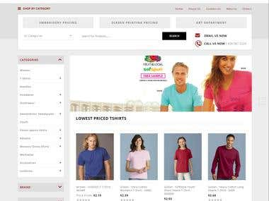 Magento 2 based Store for T-shirts and blank apparels