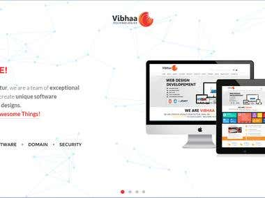 Vibhaa.in redesign