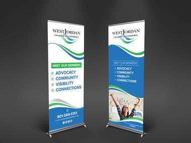 Roll up banner for Upcoming Trade show Fair