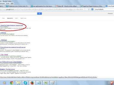 Top ranking on Google