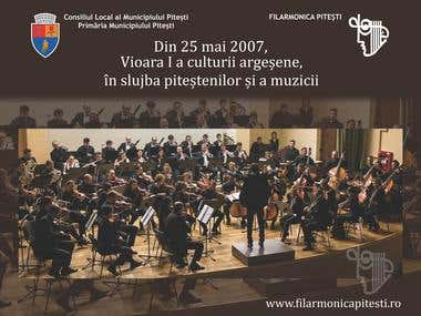 Spider Pop-up design for Pitesti Filarmonica