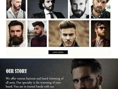mens salon site