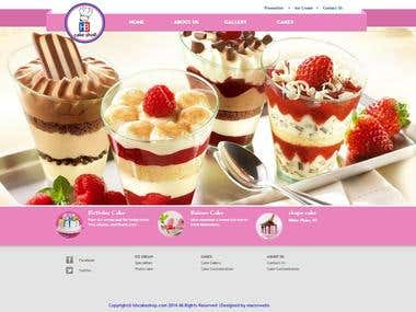 Word Press site for Cake Shop