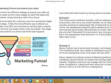 Marketing blog article