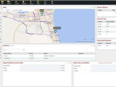 Fleet Tracking System - Old Dashboard