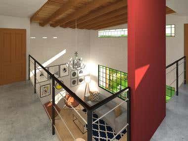 Rendering and indoor design.