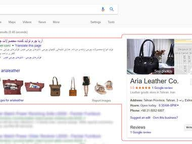 SEO For arialeather.com in Iran