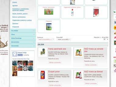 Pet web shop - Joomla Virtuemart