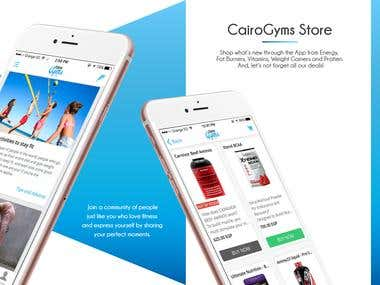 Cairo Gyms Mobile APP & website
