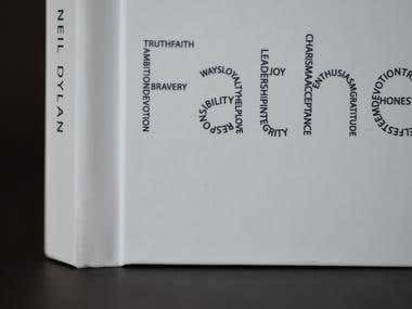 Book design and book cover design, typography