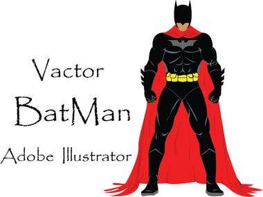Vector BateMan Using Adobe illustrator CS6