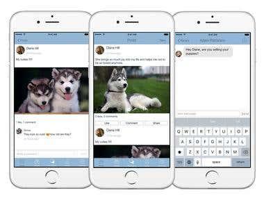 Dog Lovers: iOS Social Network App