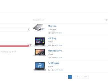 Custom E-commerce Search Page
